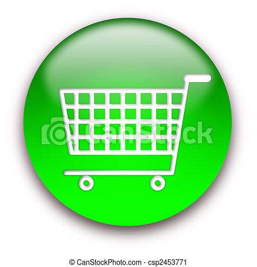 Shopping cart button - csp2453771