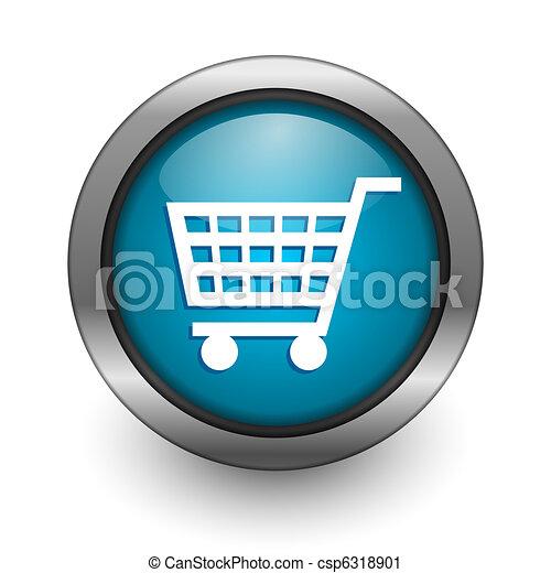 shopping cart button - csp6318901