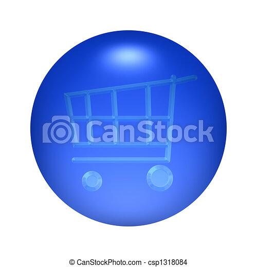 Shopping Cart Button - csp1318084