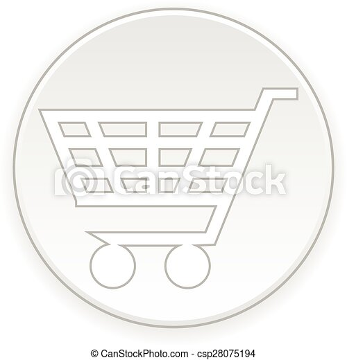 Shopping cart button. - csp28075194
