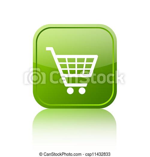 Shopping cart button - csp11432833