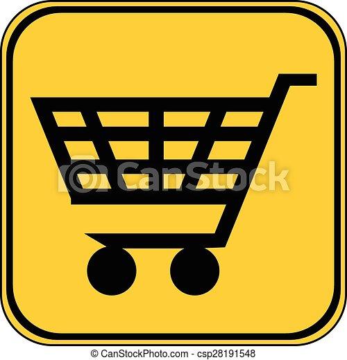 Shopping cart button. - csp28191548