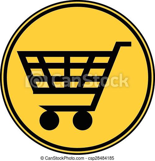 Shopping cart button. - csp28484185