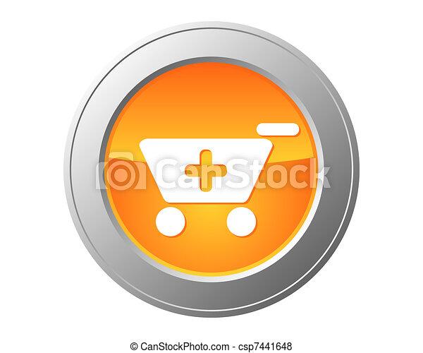 Shopping cart button - csp7441648