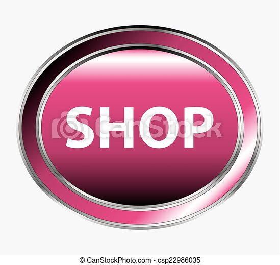 Shopping cart button - csp22986035