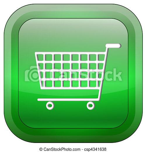 Shopping cart button - csp4341638