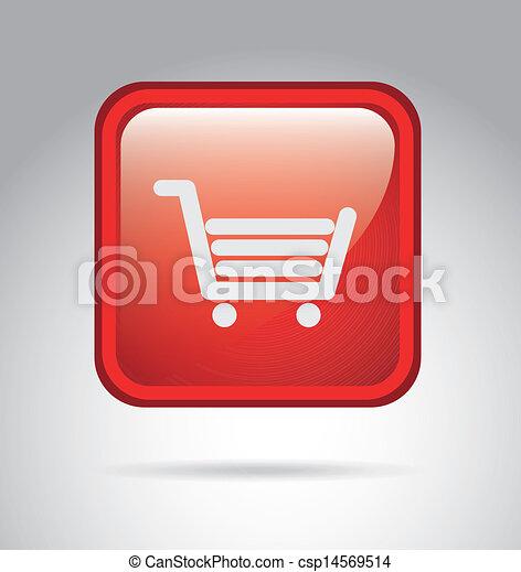 shopping cart button - csp14569514