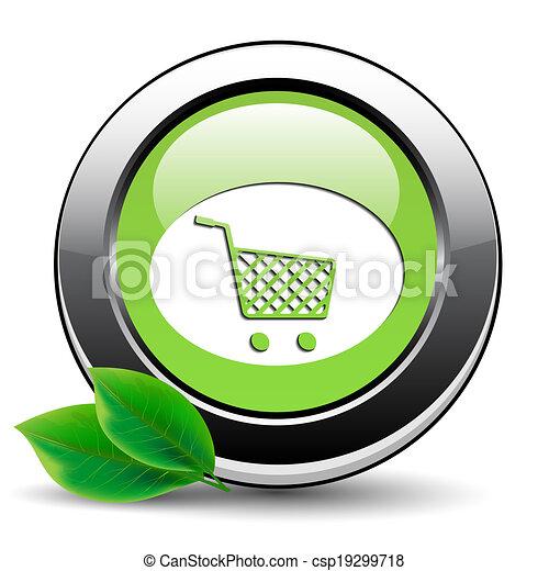 Shopping cart button - csp19299718
