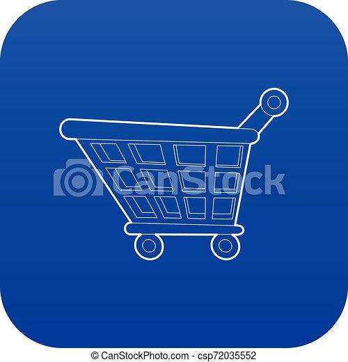 Shopping cart icon blue vector - csp72035552