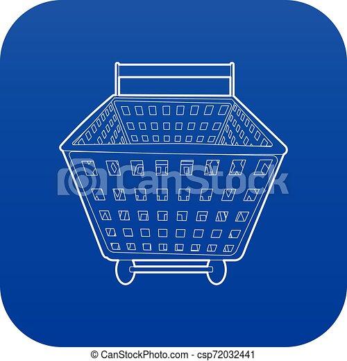 Shopping cart icon blue vector - csp72032441