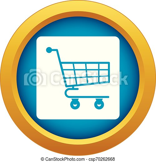 Shopping cart icon blue vector isolated - csp70262668