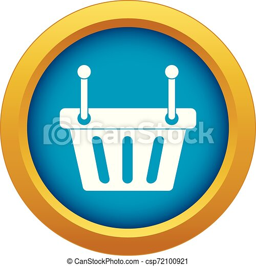 Shopping cart icon blue vector isolated - csp72100921