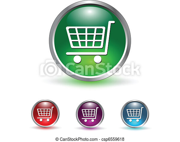 shopping cart icon, button - csp6559618