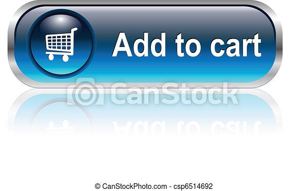 shopping cart icon, button - csp6514692