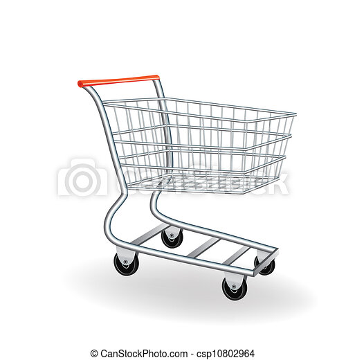 shopping cart icon 3d vector illustration element for design