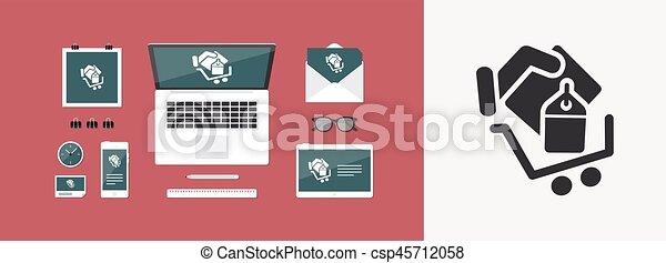 Shopping cart icon - csp45712058