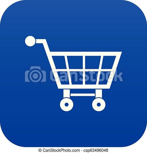 Shopping cart icon digital blue - csp63496048