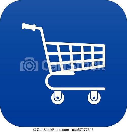 Shopping cart icon digital blue - csp67277646