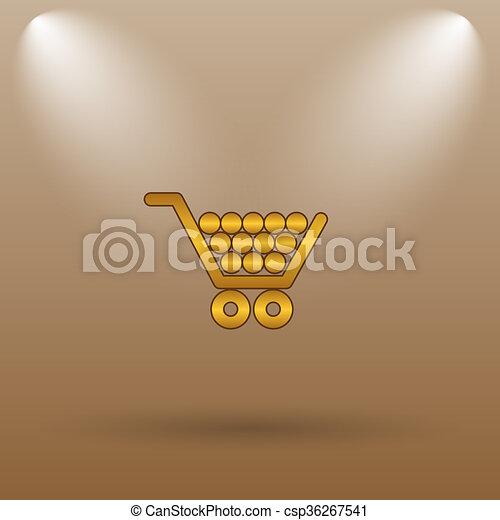 Shopping cart icon - csp36267541