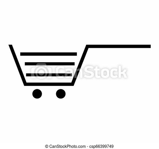 Shopping cart icon - csp66399749