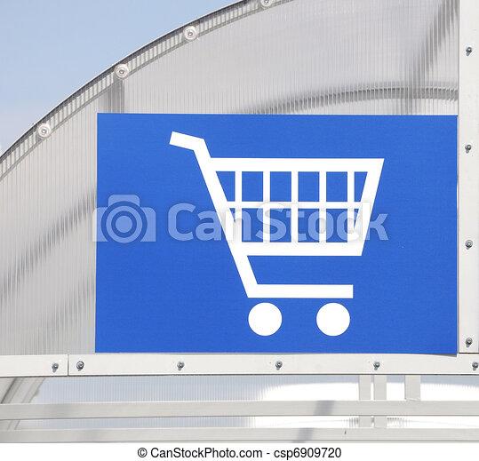 Shopping cart icon - csp6909720