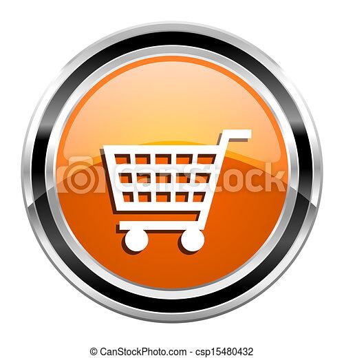 shopping cart icon - csp15480432