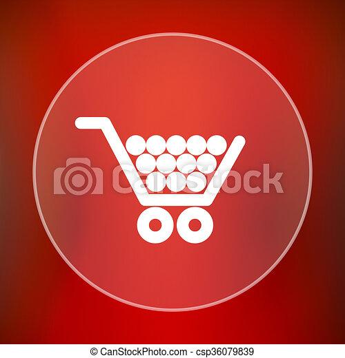Shopping cart icon - csp36079839