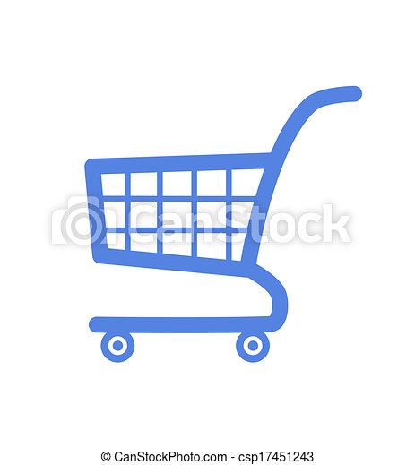 Shopping cart icon. - csp17451243