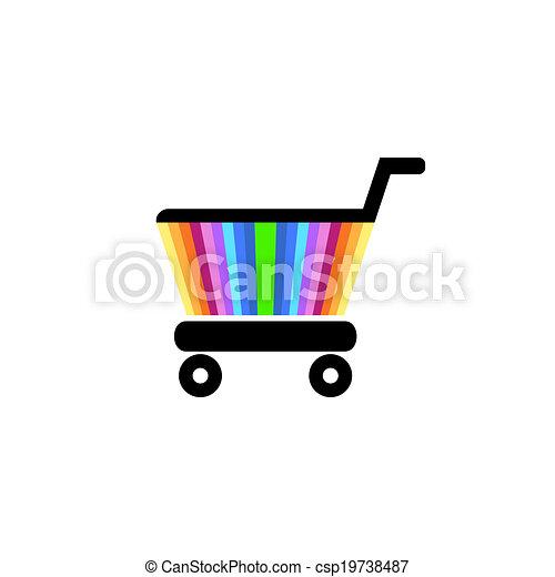 Shopping cart icon - csp19738487