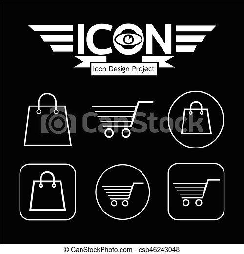 Shopping Cart Icon - csp46243048