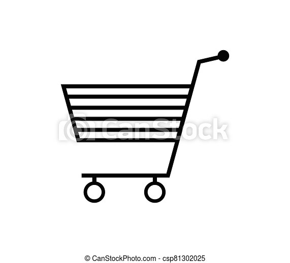 shopping cart icon illustrated in vector on white background - csp81302025