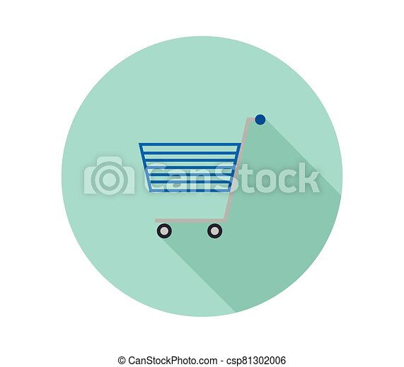 shopping cart icon illustrated in vector on white background - csp81302006