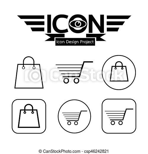 Shopping Cart Icon - csp46242821
