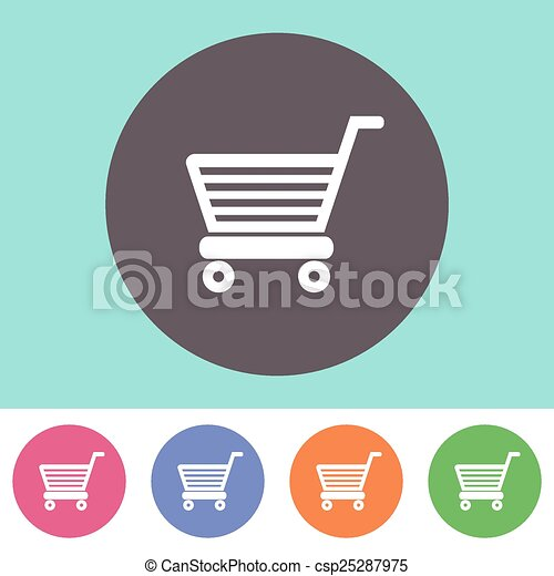 Shopping cart icon - csp25287975