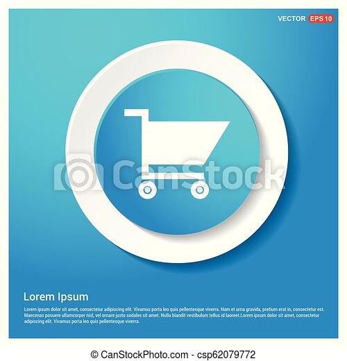 Shopping cart icon - csp62079772