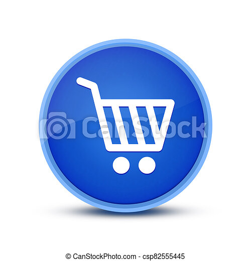 Shopping cart icon isolated on blue round button abstract button abstract - csp82555445