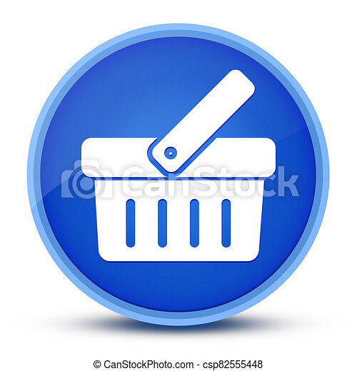 Shopping cart icon isolated on special blue round button abstract - csp82555448
