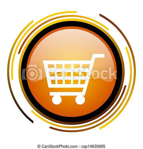 shopping cart icon - csp14630685