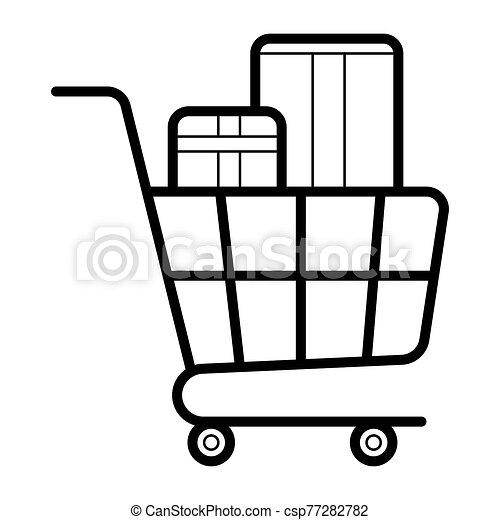 Shopping cart icon - csp77282782