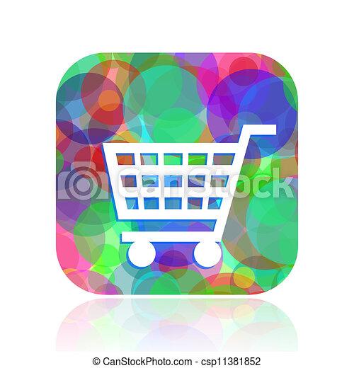 shopping cart icon - csp11381852
