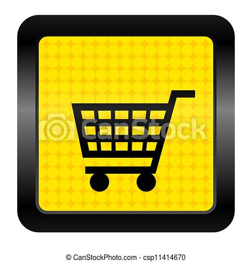 shopping cart icon - csp11414670
