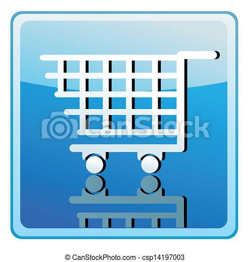 Shopping cart icon - csp14197003