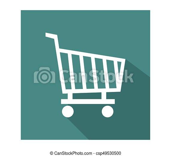 shopping cart icon - csp49530500