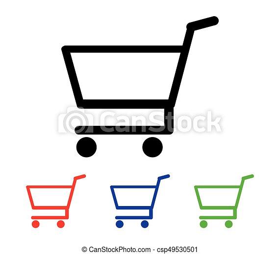 shopping cart icon - csp49530501