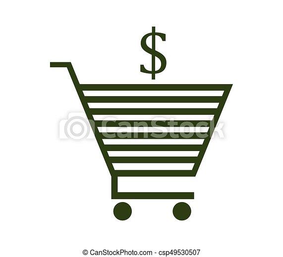 shopping cart icon - csp49530507