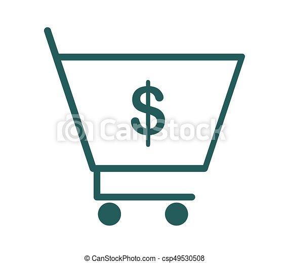 shopping cart icon - csp49530508