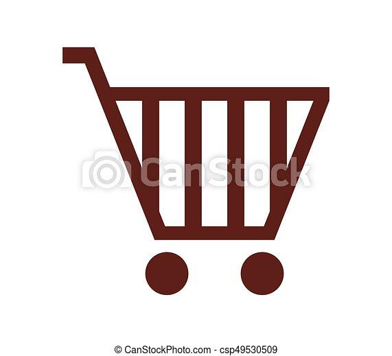 shopping cart icon - csp49530509