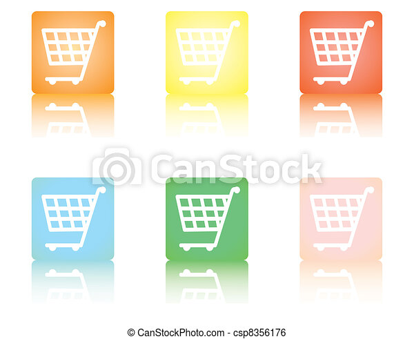 shopping cart icons - csp8356176