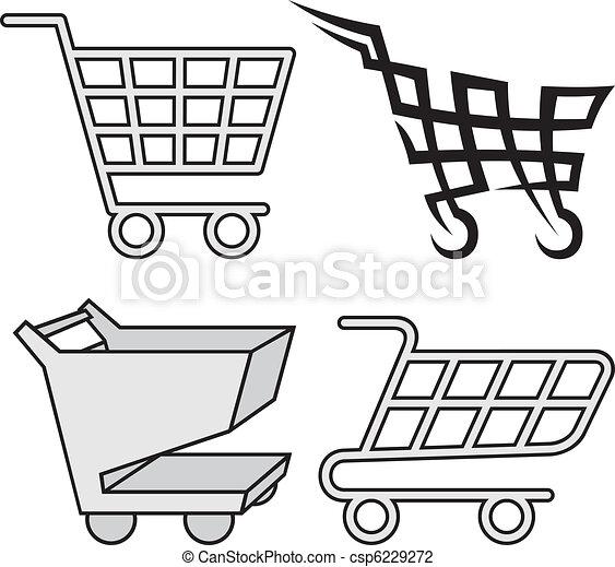 Shopping cart icons - csp6229272