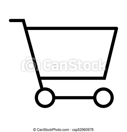 Shopping Cart Pixel Perfect Vector Thin Line Icon 48x48. Simple Minimal Pictogram - csp52960978